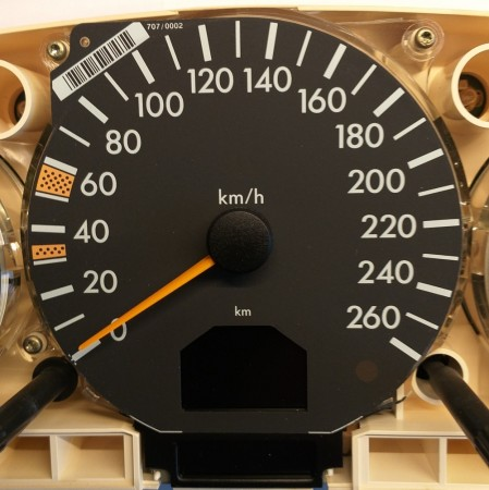 Speedometer KM/H for R129