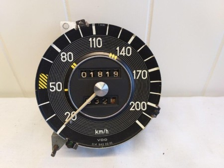 Speedometer KM/H for W114